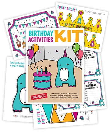 Zee Zees Birthday Kit Download